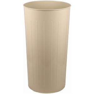 80 Quart Standard Large Round Wastebasket in Almond