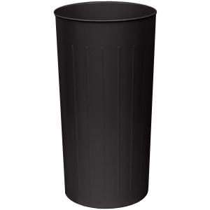 80 Quart Standard Large Round Wastebasket in Black