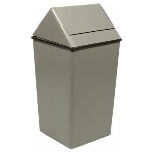 36 Gallon Waste Waste Watcher Swing and Hamper Top in Slate