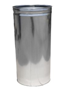 Witt 15 Gallon Indoor Receptacle Steel Galvanized Liner