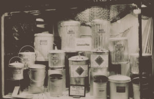 Historical Photo of Witt Receptacles and Pails Showcased