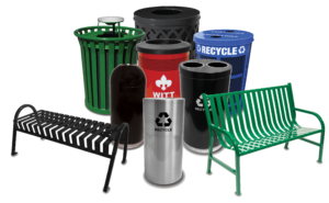 Witt Products Collage of Benches and Receptacles Transparent Background