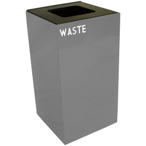 28 Gallon Geocube Waste Unit in Slate with Waste Opening