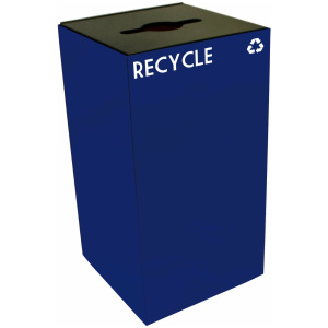 28 Gallon Geocube Recycling Unit in Blue with Combo Opening