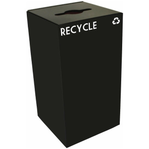 28 Gallon Geocube Recycling Unit in Charcoal Black with Combo Opening