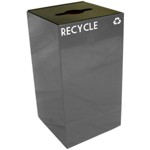 28 Gallon Geocube Recycling Unit in Slate with Combo Opening
