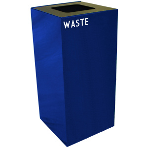 32 Gallon Geocube Waste Unit in Blue with Waste Opening