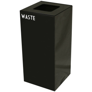 32 Gallon Geocube Waste Unit in Charcoal Black with Waste Opening