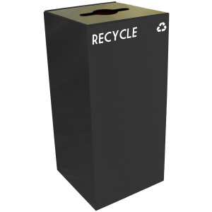 32 Gallon Geocube Recycling Unit in Charcoal Black with Combo Opening