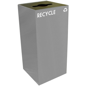 32 Gallon Geocube Recycling Unit in Slate with Combo Opening