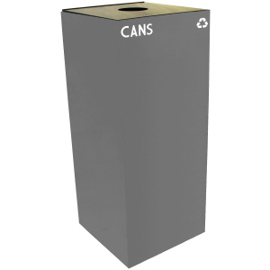 36 Gallon Geocube Cans Recycling Unit in Slate with Round Opening