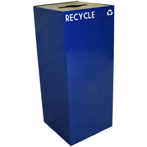 36 Gallon Geocube Recycling Unit in Blue with Combo Opening