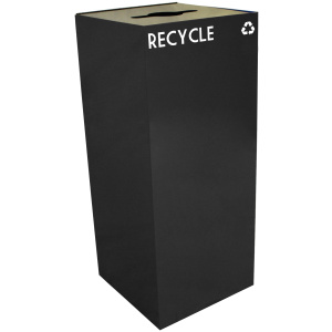 36 Gallon Geocube Recycling Unit in Charcoal Black with Combo Opening