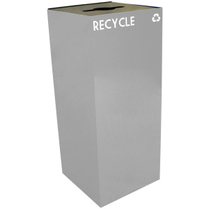 36 Gallon Geocube Recycling Unit in Slate with Combo Opening