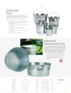 Witt Industrial Pails and Tubs Catalog Page Transparent