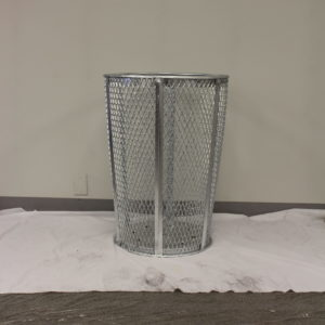Witt 48 Gallon EXP Mesh Recycling Receptacle Metal Outdoor Container in Silver