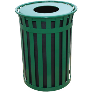 50 Gallon Oakley Standard Receptacle in Green with Flat Top