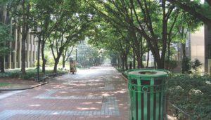 Witt Oakley Decorative Green Receptacle in Outdoor Environment
