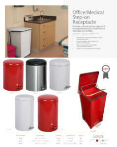 Witt Office/Medical Step-on Receptacle Catalog Page Transparent