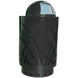 40 Gallon Sawgrass Receptacle in Black with Dome Top