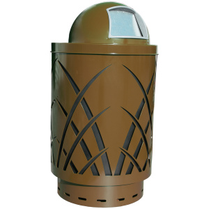 40 Gallon Sawgrass Receptacle in Brown with Dome Top