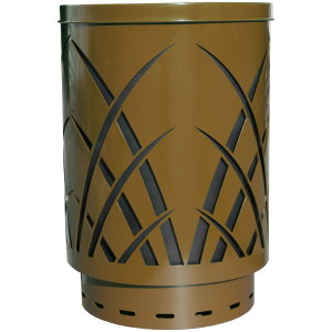 40 Gallon Sawgrass Receptacle in Brown with Flat Top