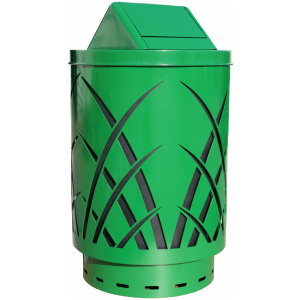 40 Gallon Sawgrass Receptacle in Green with Swing Top