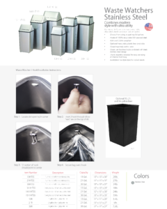 Witt Waste Watchers Stainless Steel Catalog Page Transparent