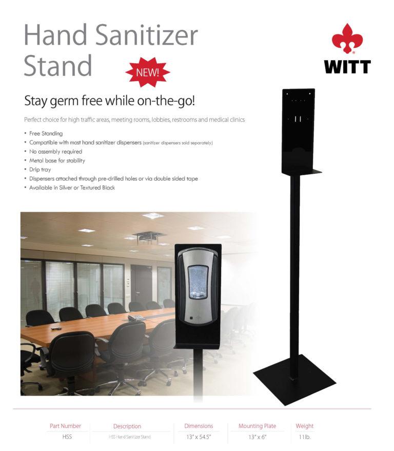 Witt Sanitizer Station Sales Sheet