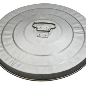 10 Gallon 27 Gauge Light Duty Galvanized Metal Receptacle Lid