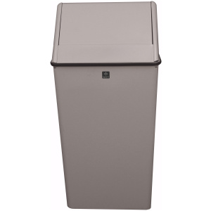 13 Gallon Swing Top Hamper and Top Waste Watcher in Slate