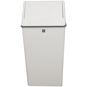13 Gallon Swing Top Hamper and Top Waste Watcher in White