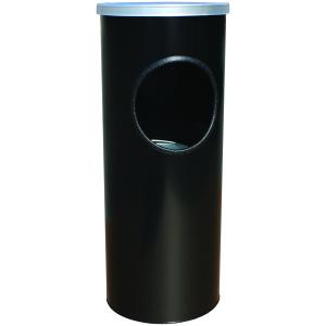 3 Gallon Classic Ash Urn Ash-n-Trash Urn in Black