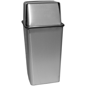36 Gallon Waste Watcher Push and Hamper Top in Stainless Steel