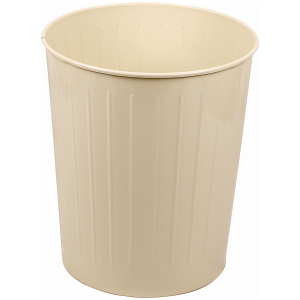 49.6 Quart Standard Large Round Wastebasket in Almond