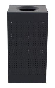 25 Gallon Celestial Series Black Receptacle in Powder Coating