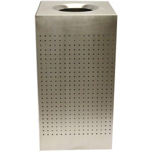 25 Gallon Celestial Series Stainless Steel Receptacle in Powder Coating