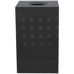40 Gallon Celestial Series Brushed Black Receptacle with Perforated Holes