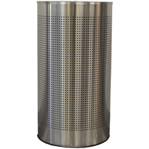 12 Gallon Stainless Steel Receptacle with Perforated Holes