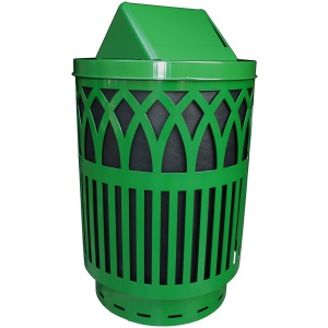 40 Gallon Covington Series Receptacle in Green with Swing Top