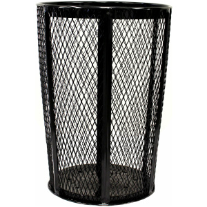 48 Gallon Expanded Metal Outdoor Container Black