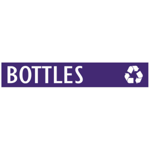 Purple Bottles Banner with Recycle Logo