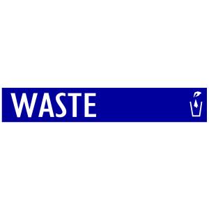 Blue Waste Banner with Trash Logo