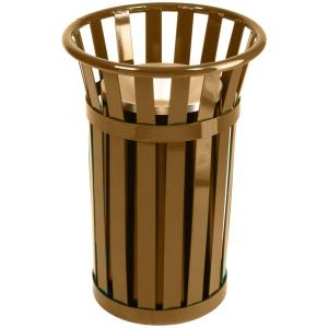 Oakley Standard Urn Basket with Galvanneal Liner in Brown