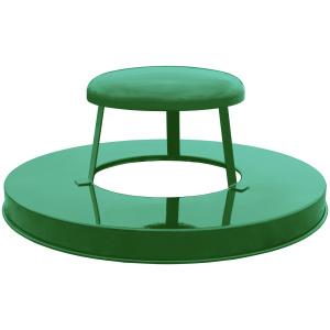 36 Gallon Oakley Standard Receptacle Green Rain Cap