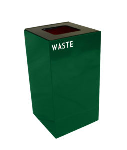 Witt Green 28 Gallon Geocube Waste Receptacle with Waste Opening