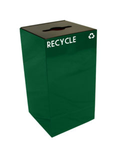 Witt Green 28 Gallon Geocube Recycling Receptacle with Combination Opening