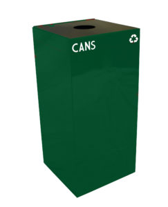 Witt Green 32 Gallon Geocube Cans Recycling Receptacle with Round Opening