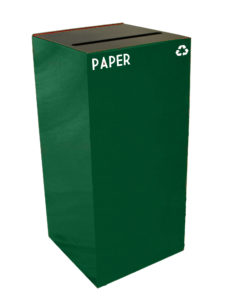 Witt Green 32 Gallon Geocube Paper Recycling Receptacle with Slot Opening