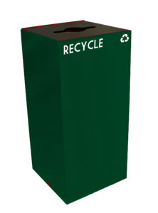 Witt Green 32 Gallon Geocube Recycling Receptacle with Combination Opening